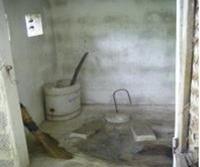 Inside composting toilet in central Vietnam village