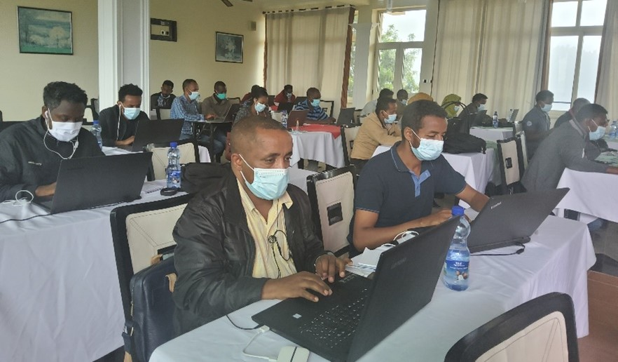 Participants completing the online course as part of the training