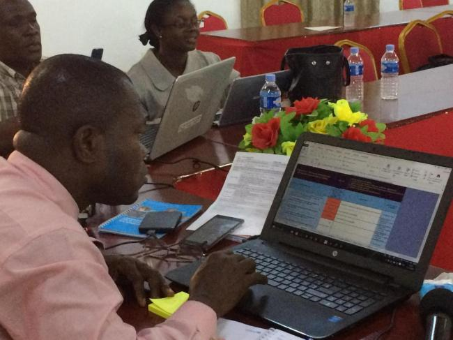 Monitoring workshop in Côte d'Ivoire, 2016