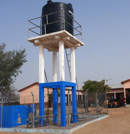 Water tank and taps at Asaloko School