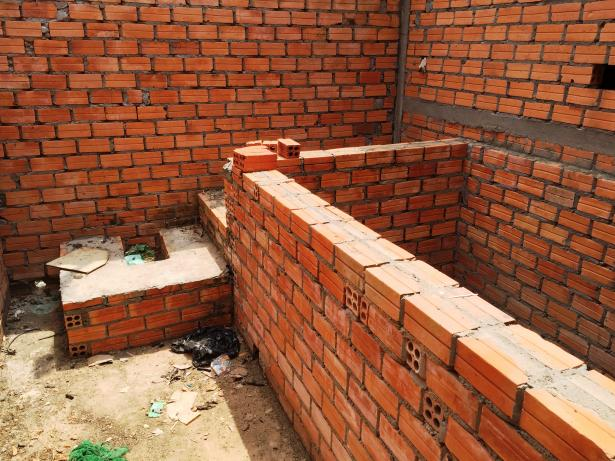 500 dollar toilet under construction in Cambodia