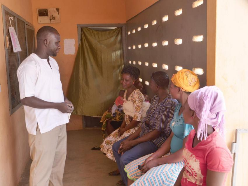 Isaac Adita Principal Enrolled Nurse at Foe CHPS – now one of the most popular centres in the district for women to give birth