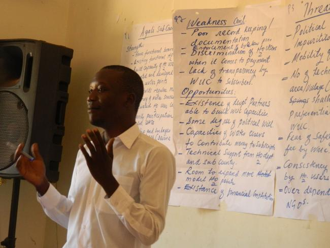 Jimmy Otim participating in a learning event. Photo: IRC
