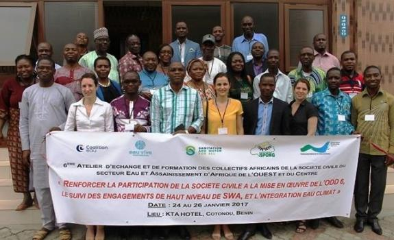 Representatives of African collectives in the water and sanitation sector