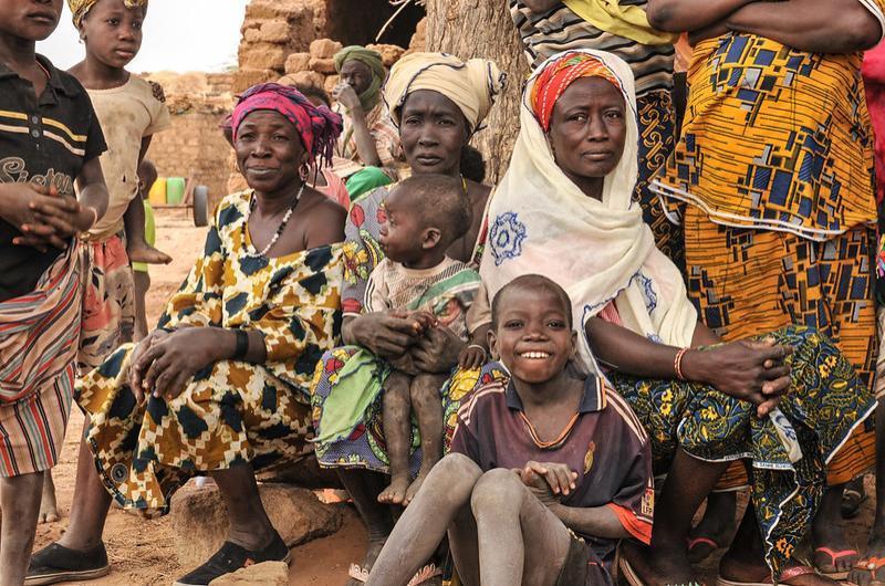 Women attending community meeting in the Sahel region, Burkina Faso. © IRC, 2015.