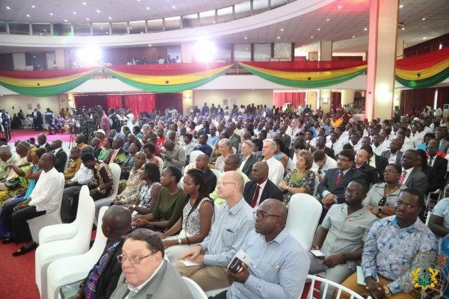 Cross section of stakeholders at the launch of Ghana's National Sanitation Campaign