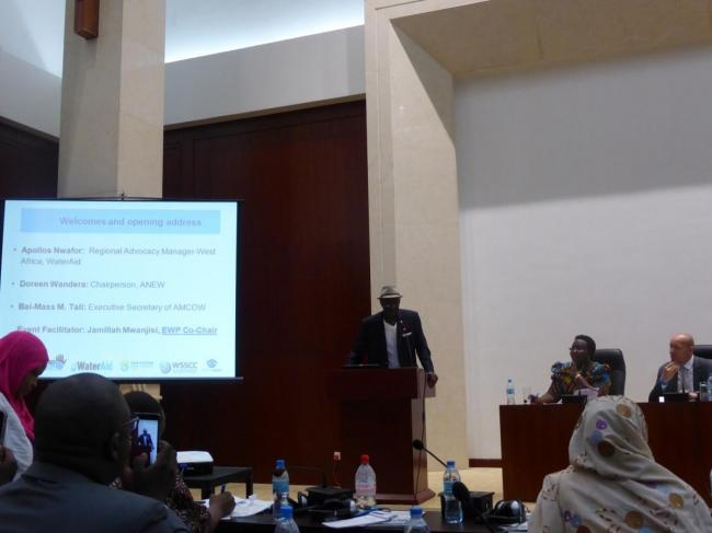 CSO forum Bai-Mass Taal, the Executive Secretary of African Ministers Council on Water (AMCOW)