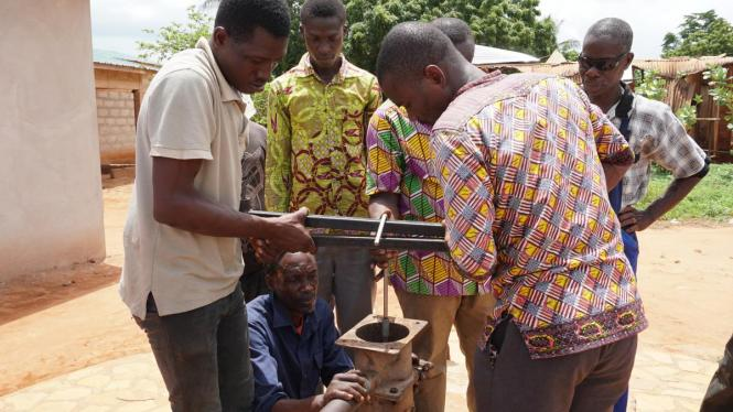 Area mechanics during their training in Ghana