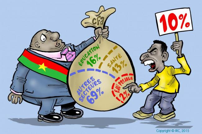 Cartoon by Damien Glez for the presidential elections in Burkina Faso