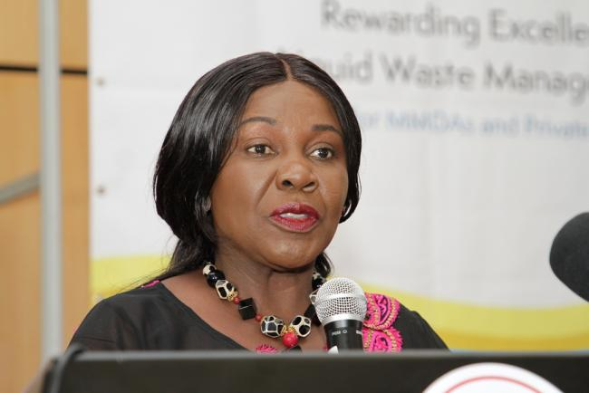 Hon. Cecilia Dapaah- Minister of Sanitation and Water Resources in Ghana