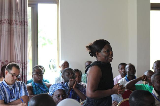 IRC Ghana director Vida Duti speaking at Mole conference 2012