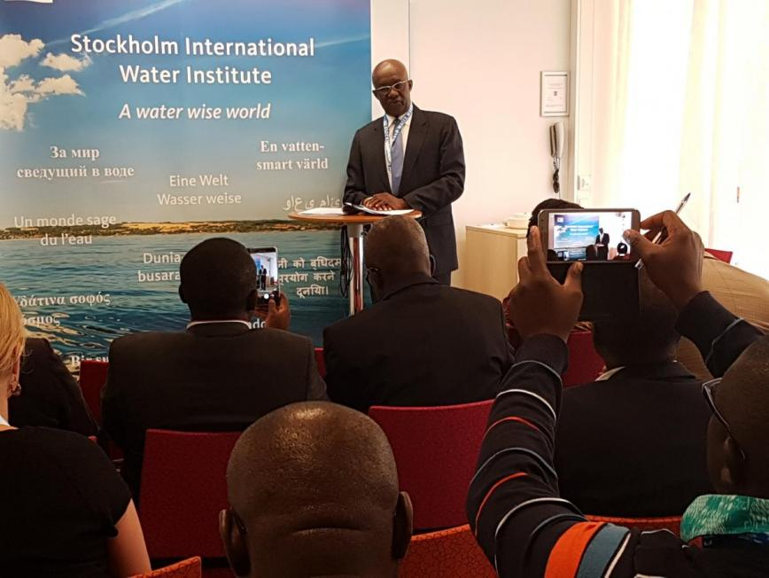 Hon. Minister Joseph Kofi Adda at Stockholm World Water Week