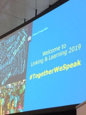 Opening screen Linking and Learning 2019