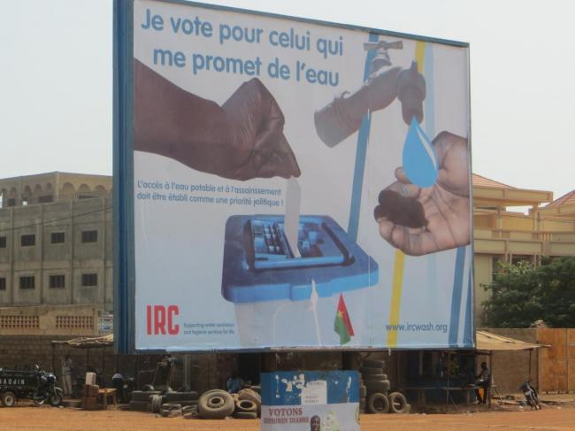 Billboard commissioned by IRC Burkina Faso for the presidential elections