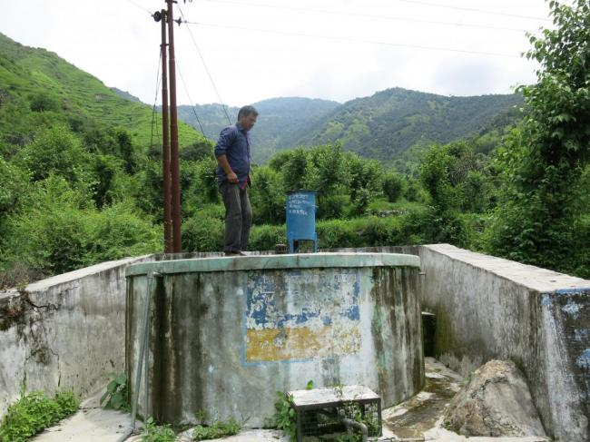 Water tank in Uttarakhand, India (Photo: Stef Smits)