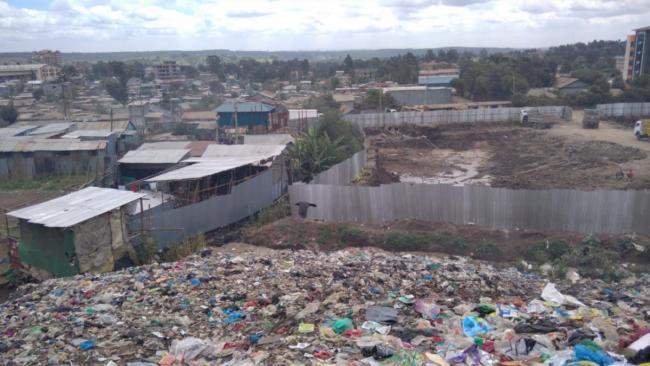Landfill site in Kenya (photo by Jacob Baraza of CESPAD)