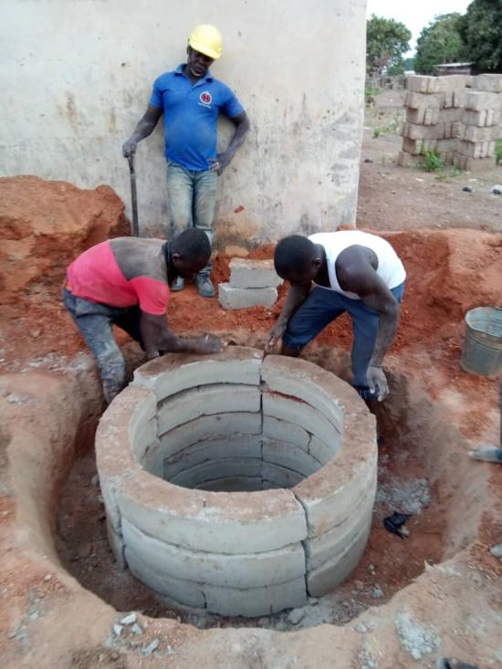 Constructing an innovative low-cost resilient lining latrine