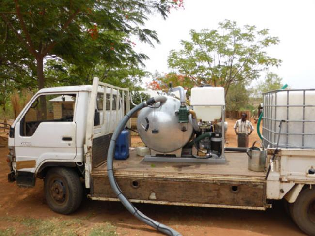 ROM Mobile Desludging Unit in Malawi. Photo: ROM bv, The Netherlands