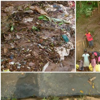 Solid waste blocking and polluting the surface and groundwater, making it unfit for consumption  (photos Seleen Suidman, December 2016 & January 2017, Kampala & Kigali)