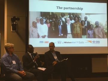 Discussing the partnership approach between government, NGOs and funders in Ghana (source: IRC)