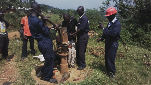 Borehole rehabilitation in Uganda