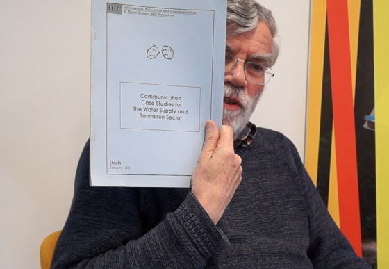 Dick de Jong with the Communication Case Studies for the Water Supply and Sanitation Sector book
