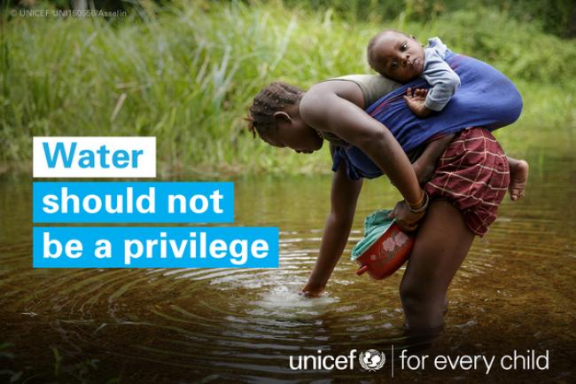 Water should not be a privilege - UNICEF photo.