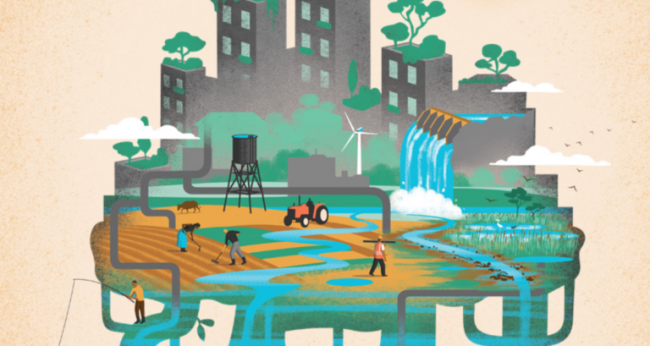 Nature-based solutions for water. Illustration for World Water Development Report 2018