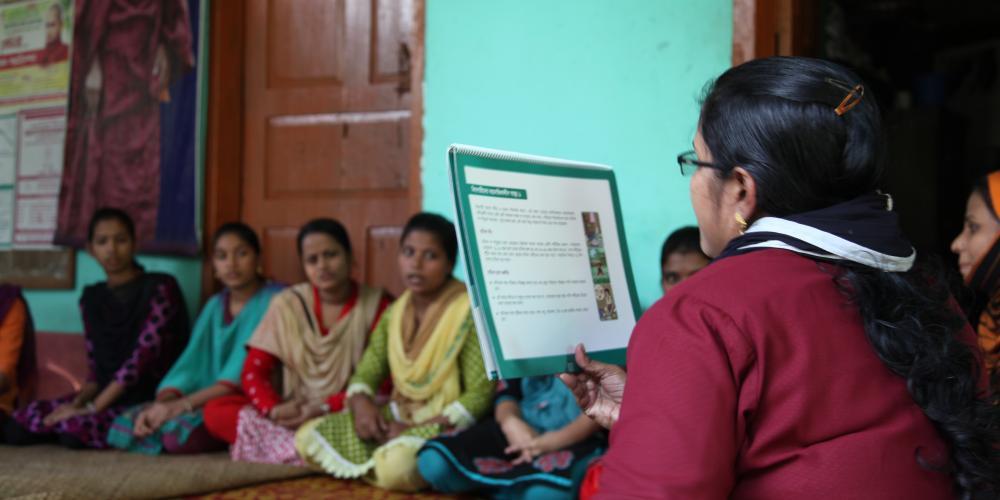 Adolescent girls' cluster meeting - Sayedbari, Rangunia 2014