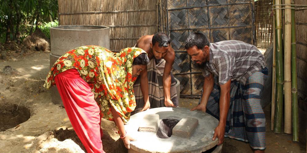 Latrines in Bangladesh