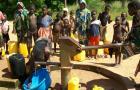 Community water pump in Ghana
