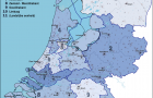 Map of 10 regional police force units in Netherlands following reorganisation