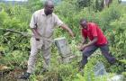 Hand pump mechanics at work in Kabarole district, Uganda
