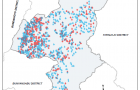 An example of using GIS to depict water point functionality was produced by IRC-Uganda