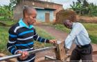 Handpump mechanics, Baluku Ramathan and Balyebuga Steven, working in Kabarole district, Uganda