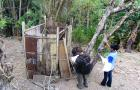 Checking toilets in Indonesia