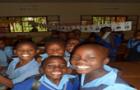 Girls at an Ugandan primary school
