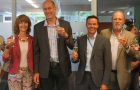 Staff from IRC and DGIS celebrate signing new programmatic funding