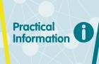Symposium banner for practical information