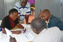 Brainstorming about future of learning platform in Kyenjojo, Uganda