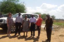 WSSCC/USF delegation in Napaka District, December 2016