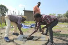 Making a toilet slab in Ethiopia