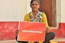 She makes change