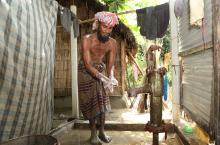 man washing hands bangladesh