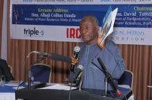 Alhaji Collins Dauda, Minister of Water Resources, Works and Housing,