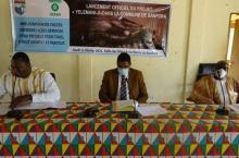 De G à D, Aboubakar Hema, Maire de Banfora, Michara Mahamad, Secrétaire Général de la Région des Cascades, Omer Kaboré, Directeu