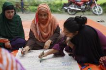 Women gathering for a capacity-building and planning workshop as organised by WP Bangladesh.