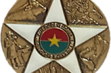 The medal received by IRC Burkina Faso