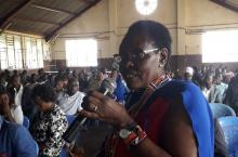 Kenya - Budget Champion Penina Tombo at a public participation forum
