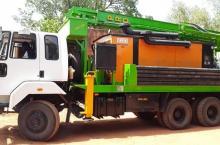 Mobile drilling workshop in Banfora, Burkina Faso